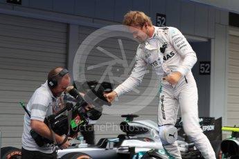 World © Octane Photographic Ltd. Mercedes AMG Petronas W07 Hybrid – Nico Rosberg. Sunday 9th October 2016, F1 Japanese GP - Parc Ferme. Suzuka Circuit, Suzuka, Japan. Digital Ref :1737LB1D8279