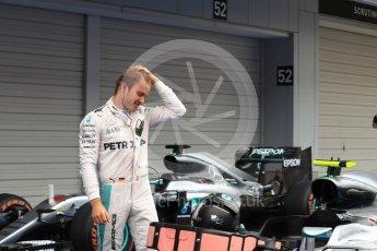 World © Octane Photographic Ltd. Mercedes AMG Petronas W07 Hybrid – Nico Rosberg. Sunday 9th October 2016, F1 Japanese GP - Parc Ferme. Suzuka Circuit, Suzuka, Japan. Digital Ref :1737LB1D8290