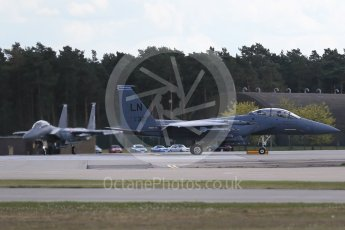"""World © Octane Photographic Ltd. 3rd May 2016 RAF Lakenheath, USAF (United States Air Force) 48th Fighter Wing """"Statue of Liberty Wing"""" 492 Fighter Squadron """"Mad Hatters"""", McDonnell Douglas F-15E Strike Eagle. Digital Ref : 1531CB1D9762"""