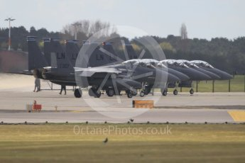 """World © Octane Photographic Ltd. 3rd May 2016 RAF Lakenheath, USAF (United States Air Force) 48th Fighter Wing """"Statue of Liberty Wing"""" 492 Fighter Squadron """"Mad Hatters"""", McDonnell Douglas F-15E Strike Eagle. Digital Ref : 1531CB1L0995"""