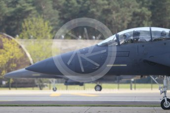 """World © Octane Photographic Ltd. 3rd May 2016 RAF Lakenheath, USAF (United States Air Force) 48th Fighter Wing """"Statue of Liberty Wing"""" 492 Fighter Squadron """"Mad Hatters"""", McDonnell Douglas F-15E Strike Eagle. Digital Ref :1531CB1L1252"""