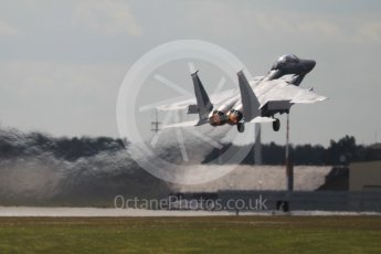 """World © Octane Photographic Ltd. 3rd May 2016 RAF Lakenheath, USAF (United States Air Force) 48th Fighter Wing """"Statue of Liberty Wing"""" 492 Fighter Squadron """"Mad Hatters"""", McDonnell Douglas F-15E Strike Eagle. Digital Ref :1531CB1L1313"""
