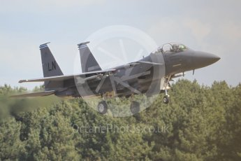 """World © Octane Photographic Ltd. 3rd May 2016 RAF Lakenheath, USAF (United States Air Force) 48th Fighter Wing """"Statue of Liberty Wing"""" 492 Fighter Squadron """"Mad Hatters"""", McDonnell Douglas F-15E Strike Eagle. Digital Ref :1531CB1L1371"""