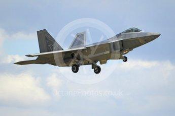 "World © Octane Photographic Ltd. 3rd May 2016 RAF Lakenheath, USAF (United States Air Force) 325th Operations Group, 95th Fighter Squadron ""Boneheads"", Lockheed-Martin F-22 Raptor. Digital Ref :1531CB1L1564"