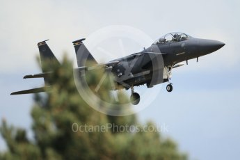 """World © Octane Photographic Ltd. 3rd May 2016 RAF Lakenheath, USAF (United States Air Force) 48th Fighter Wing """"Statue of Liberty Wing"""" commanding officer's personal aircraft, McDonnell Douglas F-15E Strike Eagle. Digital Ref :1531CB1L1734"""