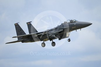 "World © Octane Photographic Ltd. 3rd May 2016 RAF Lakenheath, USAF (United States Air Force) 48th Fighter Wing ""Statue of Liberty Wing"" commanding officer's personal aircraft, McDonnell Douglas F-15E Strike Eagle. Digital Ref :1531CB1L1737"