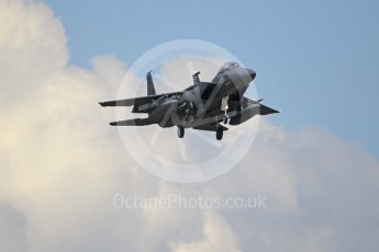 """World © Octane Photographic Ltd. 3rd May 2016 RAF Lakenheath, USAF (United States Air Force) 48th Fighter Wing """"Statue of Liberty Wing"""" 492 Fighter Squadron """"Mad Hatters"""", McDonnell Douglas F-15E Strike Eagle. Digital Ref :1531CB1L1743"""