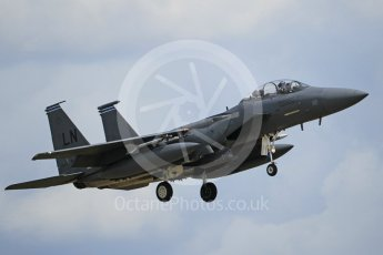 """World © Octane Photographic Ltd. 3rd May 2016 RAF Lakenheath, USAF (United States Air Force) 48th Fighter Wing """"Statue of Liberty Wing"""" 492 Fighter Squadron """"Mad Hatters"""", McDonnell Douglas F-15E Strike Eagle. Digital Ref :1531CB1L1759"""