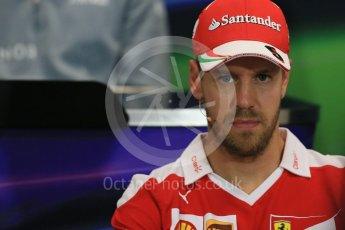 World © Octane Photographic Ltd. F1 Monaco GP FIA Drivers' Press Conference, Monaco, Monte Carlo, Wednesday 25th May 2016. Scuderia Ferrari – Sebastian Vettel. Digital Ref : 1560LB1D4578