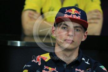 World © Octane Photographic Ltd. F1 Monaco GP FIA Drivers' Press Conference, Monaco, Monte Carlo, Wednesday 25th May 2016. Red Bull Racing – Max Verstappen. Digital Ref : 1560LB1D4713