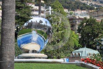 World © Octane Photographic Ltd. Mirror in front of the Casino. Saturday 28th May 2016, F1 Monaco GP Practice 3, Monaco, Monte Carlo. Digital Ref : 1568CB1D7922