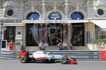 World © Octane Photographic Ltd. Haas F1 Team VF-16 - Esteban Gutierrez. Saturday 28th May 2016, F1 Monaco GP Practice 3, Monaco, Monte Carlo. Digital Ref : 1568CB1D7934