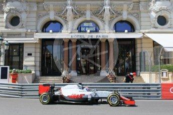 World © Octane Photographic Ltd. Haas F1 Team VF-16 – Romain Grosjean. Saturday 28th May 2016, F1 Monaco GP Practice 3, Monaco, Monte Carlo. Digital Ref : 1568CB1D7940