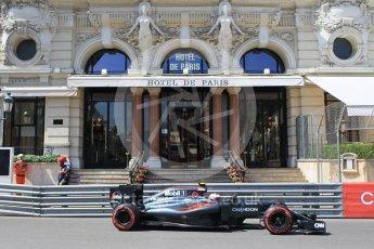 World © Octane Photographic Ltd. McLaren Honda MP4-31 – Jenson Button. Saturday 28th May 2016, F1 Monaco GP Practice 3, Monaco, Monte Carlo. Digital Ref : 1568CB1D7972