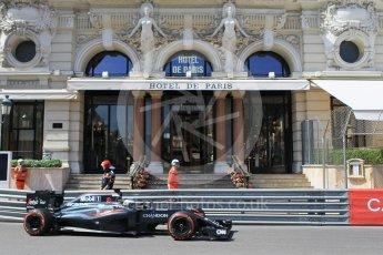World © Octane Photographic Ltd. McLaren Honda MP4-31 – Fernando Alonso. Saturday 28th May 2016, F1 Monaco GP Practice 3, Monaco, Monte Carlo. Digital Ref : 1568CB1D7978