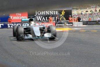 World © Octane Photographic Ltd. Mercedes AMG Petronas W07 Hybrid – Lewis Hamilton. Saturday 28th May 2016, F1 Monaco GP Practice 3, Monaco, Monte Carlo. Digital Ref : 1568CB1D8180