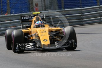 World © Octane Photographic Ltd. Renault Sport F1 Team RS16 – Jolyon Palmer. Saturday 28th May 2016, F1 Monaco GP Practice 3, Monaco, Monte Carlo. Digital Ref : 1568CB7D1892