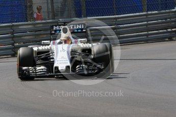 World © Octane Photographic Ltd. Williams Martini Racing, Williams Mercedes FW38 – Felipe Massa. Saturday 28th May 2016, F1 Monaco GP Practice 3, Monaco, Monte Carlo. Digital Ref : 1568CB7D1894