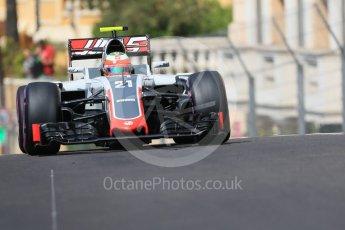 World © Octane Photographic Ltd. Haas F1 Team VF-16 - Esteban Gutierrez. Saturday 28th May 2016, F1 Monaco GP Practice 3, Monaco, Monte Carlo. Digital Ref : 1568CB7D1904