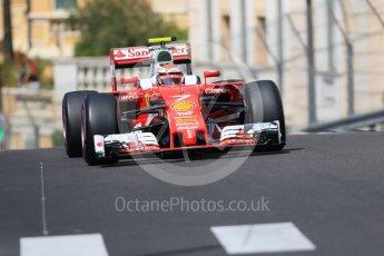 World © Octane Photographic Ltd. Scuderia Ferrari SF16-H – Kimi Raikkonen. Saturday 28th May 2016, F1 Monaco GP Practice 3, Monaco, Monte Carlo. Digital Ref : 1568CB7D1913