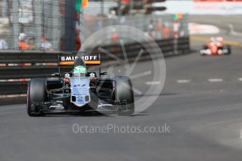 World © Octane Photographic Ltd. Sahara Force India VJM09 - Nico Hulkenberg. Saturday 28th May 2016, F1 Monaco GP Practice 3, Monaco, Monte Carlo. Digital Ref : 1568CB7D1937