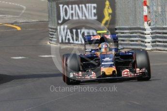 World © Octane Photographic Ltd. Scuderia Toro Rosso STR11 – Carlos Sainz. Saturday 28th May 2016, F1 Monaco GP Practice 3, Monaco, Monte Carlo. Digital Ref : 1568CB7D2014