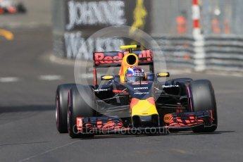 World © Octane Photographic Ltd. Red Bull Racing RB12 – Max Verstappen. Saturday 28th May 2016, F1 Monaco GP Practice 3, Monaco, Monte Carlo. Digital Ref : 1568CB7D2026