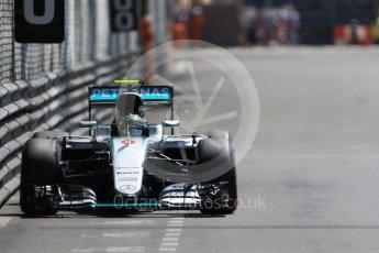 World © Octane Photographic Ltd. Mercedes AMG Petronas W07 Hybrid – Nico Rosberg. Saturday 28th May 2016, F1 Monaco GP Practice 3, Monaco, Monte Carlo. Digital Ref : 1568CB7D2092