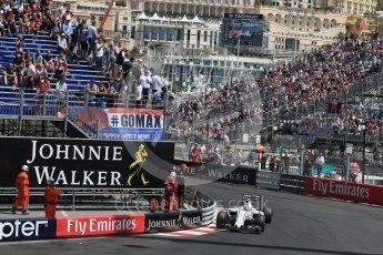 World © Octane Photographic Ltd. Williams Martini Racing, Williams Mercedes FW38 – Felipe Massa. Saturday 28th May 2016, F1 Monaco GP Practice 3, Monaco, Monte Carlo. Digital Ref : 1568LB1D0043