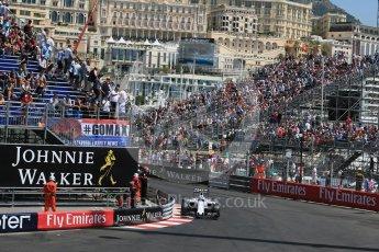 World © Octane Photographic Ltd. Williams Martini Racing, Williams Mercedes FW38 – Valtteri Bottas. Saturday 28th May 2016, F1 Monaco GP Practice 3, Monaco, Monte Carlo. Digital Ref : 1568LB1D0082