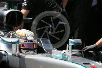 World © Octane Photographic Ltd. Mercedes AMG Petronas W07 Hybrid – Lewis Hamilton. Saturday 28th May 2016, F1 Monaco GP Practice 3, Monaco, Monte Carlo. Digital Ref : 1568LB1D0133