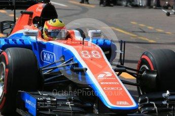 World © Octane Photographic Ltd. Manor Racing MRT05 – Rio Haryanto. Saturday 28th May 2016, F1 Monaco GP Practice 3, Monaco, Monte Carlo. Digital Ref : 1568LB1D9465