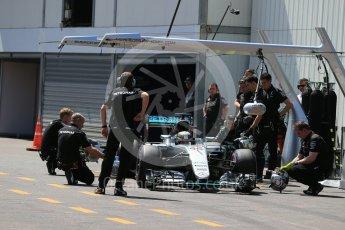World © Octane Photographic Ltd. Mercedes AMG Petronas W07 Hybrid – Lewis Hamilton. Saturday 28th May 2016, F1 Monaco GP Practice 3, Monaco, Monte Carlo. Digital Ref : 1568LB1D9684