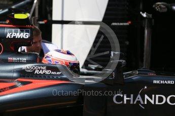 World © Octane Photographic Ltd. McLaren Honda MP4-31 – Jenson Button. Saturday 28th May 2016, F1 Monaco GP Practice 3, Monaco, Monte Carlo. Digital Ref : 1568LB1D9717