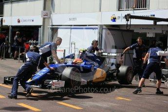 World © Octane Photographic Ltd. Sauber F1 Team C35 – Felipe Nasr. Saturday 28th May 2016, F1 Monaco GP Practice 3, Monaco, Monte Carlo. Digital Ref : 1568LB1D9723