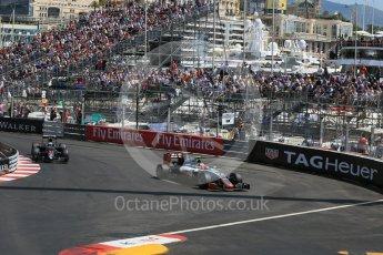 World © Octane Photographic Ltd. Haas F1 Team VF-16 - Esteban Gutierrez. Saturday 28th May 2016, F1 Monaco GP Practice 3, Monaco, Monte Carlo. Digital Ref : 1568LB1D9963