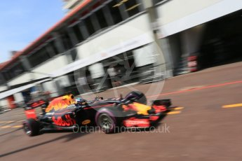 World © Octane Photographic Ltd. Red Bull Racing RB12 – Daniel Ricciardo. Saturday 28th May 2016, F1 Monaco GP Practice 3, Monaco, Monte Carlo. Digital Ref : 1568LB5D8191