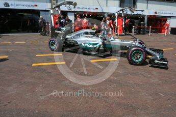 World © Octane Photographic Ltd. Mercedes AMG Petronas W07 Hybrid – Nico Rosberg. Saturday 28th May 2016, F1 Monaco GP Practice 3, Monaco, Monte Carlo. Digital Ref : 1568LB5D8207