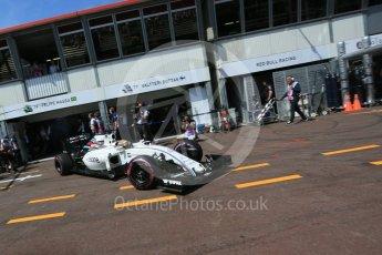 World © Octane Photographic Ltd. Williams Martini Racing, Williams Mercedes FW38 – Felipe Massa. Saturday 28th May 2016, F1 Monaco GP Practice 3, Monaco, Monte Carlo. Digital Ref : 1568LB5D8242