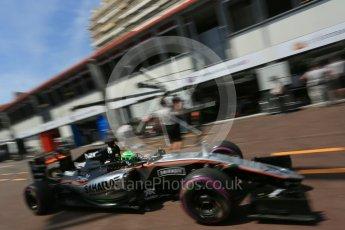 World © Octane Photographic Ltd. Sahara Force India VJM09 - Nico Hulkenberg. Saturday 28th May 2016, F1 Monaco GP Practice 3, Monaco, Monte Carlo. Digital Ref : 1568LB5D8303