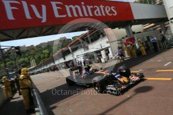World © Octane Photographic Ltd. Scuderia Toro Rosso STR11 – Carlos Sainz. Saturday 28th May 2016, F1 Monaco GP Practice 3, Monaco, Monte Carlo. Digital Ref : 1568LB5D8338