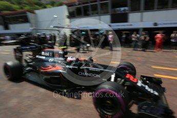 World © Octane Photographic Ltd. McLaren Honda MP4-31 – Jenson Button. Saturday 28th May 2016, F1 Monaco GP Practice 3, Monaco, Monte Carlo. Digital Ref : 1568LB5D8352