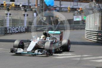 World © Octane Photographic Ltd. Mercedes AMG Petronas W07 Hybrid – Lewis Hamilton. Saturday 28th May 2016, F1 Monaco GP Qualifying, Monaco, Monte Carlo. Digital Ref :