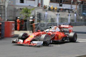 World © Octane Photographic Ltd. Scuderia Ferrari SF16-H – Sebastian Vettel. Saturday 28th May 2016, F1 Monaco GP Qualifying, Monaco, Monte Carlo. Digital Ref :