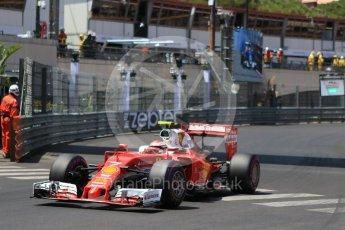 World © Octane Photographic Ltd. Scuderia Ferrari SF16-H – Kimi Raikkonen. Saturday 28th May 2016, F1 Monaco GP Qualifying, Monaco, Monte Carlo. Digital Ref :