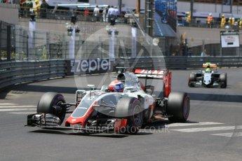 World © Octane Photographic Ltd. Haas F1 Team VF-16 – Romain Grosjean. Saturday 28th May 2016, F1 Monaco GP Qualifying, Monaco, Monte Carlo. Digital Ref :