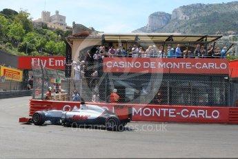 World © Octane Photographic Ltd. Haas F1 Team VF-16 – Romain Grosjean. Saturday 28th May 2016, F1 Monaco GP Qualifying, Monaco, Monte Carlo. Digital Ref : 1569CB7D2274