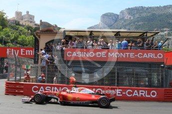 World © Octane Photographic Ltd. Scuderia Ferrari SF16-H – Kimi Raikkonen. Saturday 28th May 2016, F1 Monaco GP Qualifying, Monaco, Monte Carlo. Digital Ref : 1569CB7D2295
