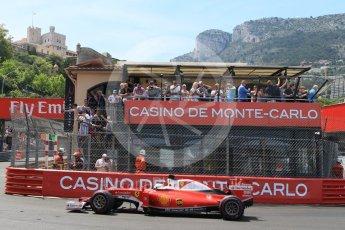 World © Octane Photographic Ltd. Scuderia Ferrari SF16-H – Sebastian Vettel. Saturday 28th May 2016, F1 Monaco GP Qualifying, Monaco, Monte Carlo. Digital Ref : 1569CB7D2301