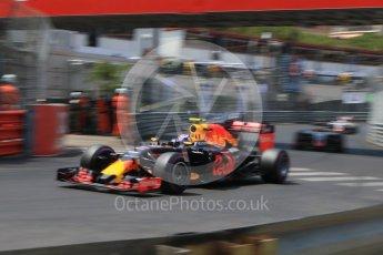 World © Octane Photographic Ltd. Red Bull Racing RB12 – Max Verstappen. Saturday 28th May 2016, F1 Monaco GP Qualifying, Monaco, Monte Carlo. Digital Ref : 1569CB7D2346